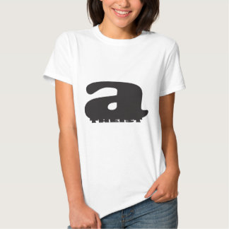Big 'a' little 'theist' - Cool Atheist Logo Shirt