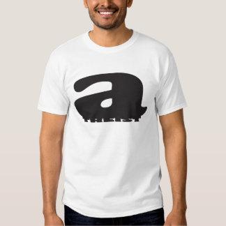 Big 'a' squishing 'theist' - Cool Atheist Logo T-shirt