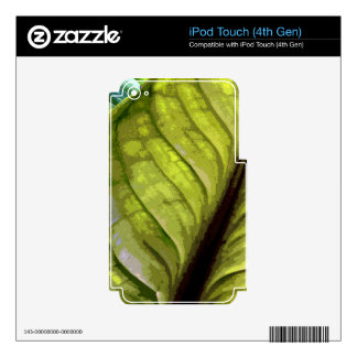 BIG ABSTRACT LEAF 8 DECALS FOR iPod TOUCH 4G