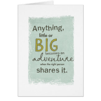 big adventure greeting card