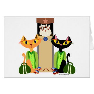 Big Alley Cats Greeting Card