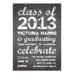 Big and bold gray chalkboard typography modern custom invite
