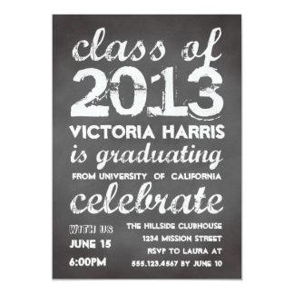 Big and bold gray chalkboard typography modern custom invite