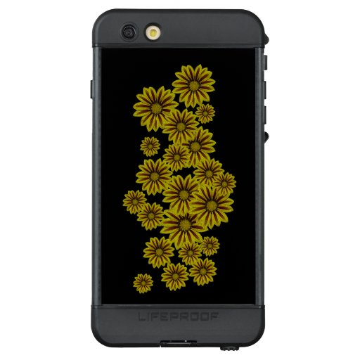 big and bold yellow flowers with red stripes daisy LifeProof NÜÜD iPhone 6s plus case