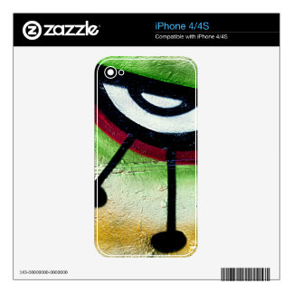 Big and colorful eye graffitti. decal for the iPhone 4S
