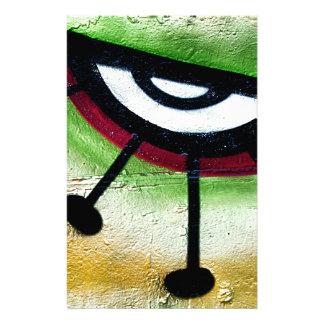 Big and colorful eye graffitti. stationery
