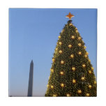 Big and Little Christmas Trees II Holiday in DC Ceramic Tile