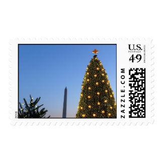 Big and Little Christmas Trees II Holiday in DC Stamp