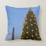 Big and Little Christmas Trees II Holiday in DC Throw Pillow
