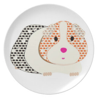 Big and Little Guinea Pigs Melamine Plate