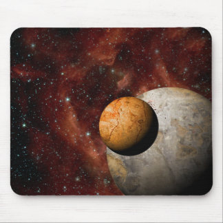 Big And Small Deep Space Planets Mouse Pad