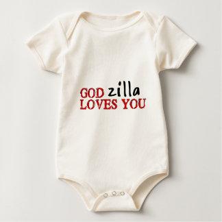 Big Ape Love Baby Bodysuit