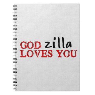 Big Ape Love Spiral Notebooks