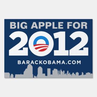 Big Apple for Obama Yard Sign