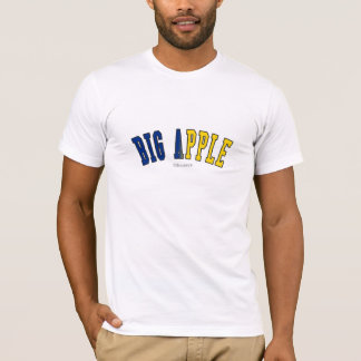 Big Apple in New York state flag colors T-Shirt