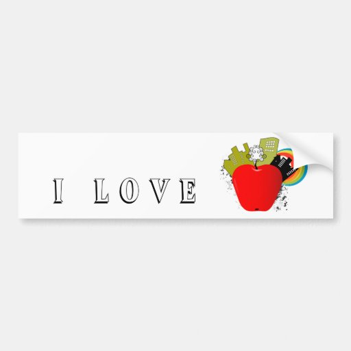 Big Apple - New York Bumper Sticker