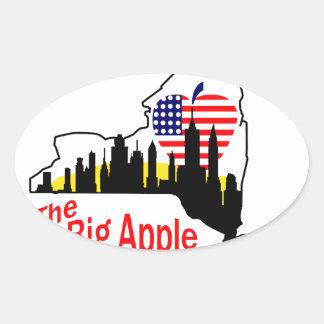 Big Apple Oval Sticker