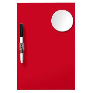 Big Apple Red-Hot Red-Uptown Girl-Designer Wedding Dry Erase Board With Mirror