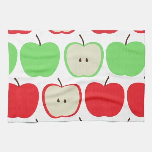 Big Apples Pattern Kitchen Towels