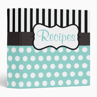 Big Aqua Black Recipe Binder