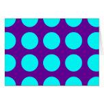 Big Aqua Polka Dots Cards