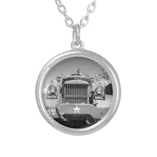 Big Army Truck Personalized Necklace