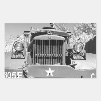 Big Army Truck Rectangular Sticker