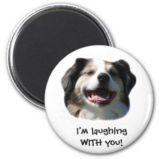 Big Aussie Smiles! 2 Inch Round Magnet