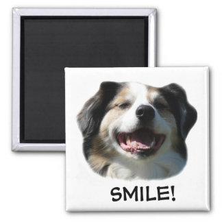 Big Aussie Smiles! 2 Inch Square Magnet