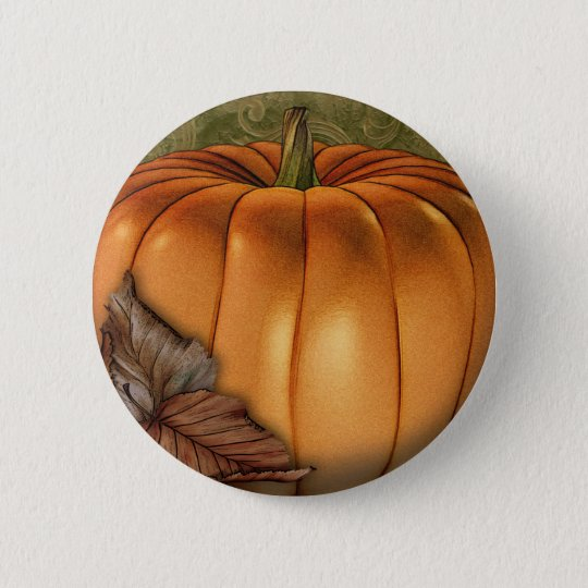 Big Autumn Pumpkin Pinback Button