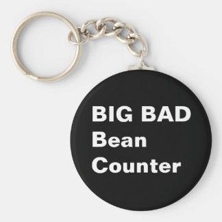 BIG BAD BEANCOUNTER - Funny Accountant Job Title Basic Round Button Keychain