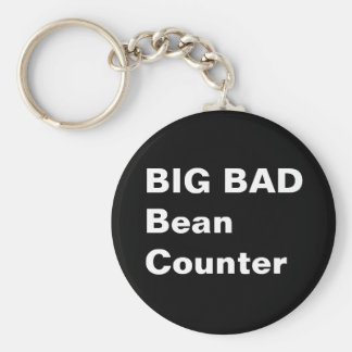 BIG BAD BEANCOUNTER - Funny Accountant Job Title Keychain