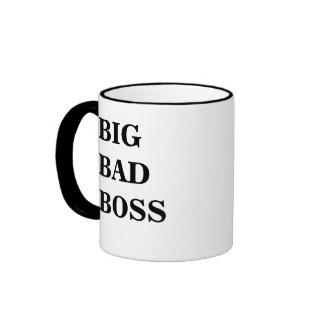 Big Bad Boss Big Bad Boss Scary Boss Mug! Ringer Coffee Mug