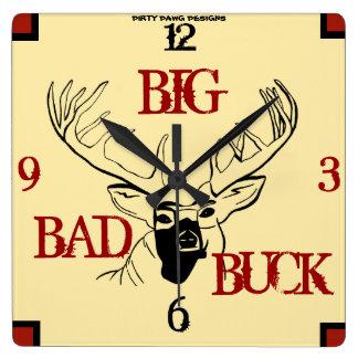 """""""Big Bad Buck"""" Wall Clock"""
