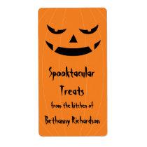 Big Bad Halloween Jack O'Lantern Kitchen Label Shipping Label