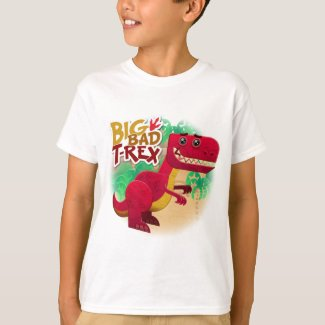 Big Bad T-Rex Kids' Basic T-Shirt
