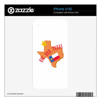 Big,Bad,Texas Skins For iPhone 4