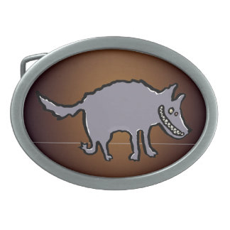 big, bad wolf oval belt buckles