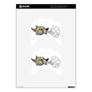 Big Bad Wolf Blowing Xbox 360 Controller Skins