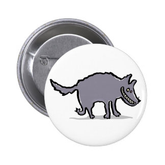 big, bad wolf pinback button