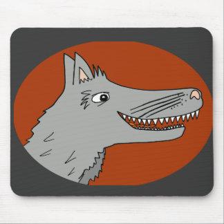BIG BAD WOLF cartoon storybook red riding hood Mouse Pad