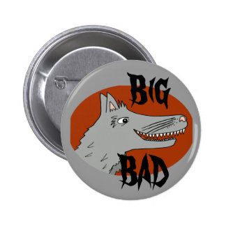 BIG BAD WOLF cartoon storybook red riding hood Pinback Button