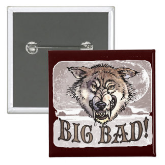 Big Bad Wolf Gear by Mudge Studios Pinback Button