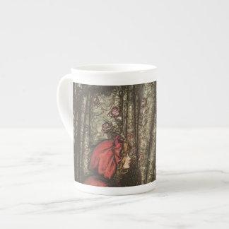Big Bad Wolf in Grandma's Bed Porcelain Mug