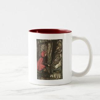 Big Bad Wolf in Grandma's Bed Two-Tone Coffee Mug