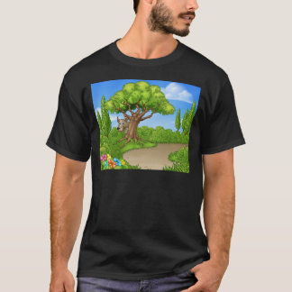 Big Bad Wolf Peeking From Tree T-Shirt