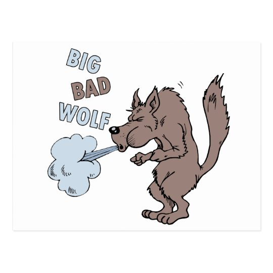 Big Bad Wolf Postcard