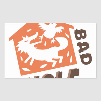 Big Bad Wolf Rectangular Sticker