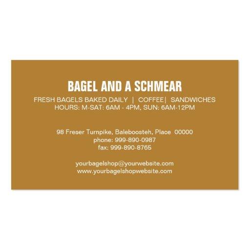 Big Bagels Business Card (back side)