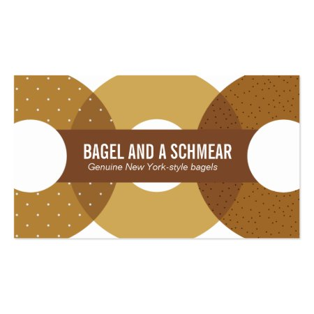 Stylish Graphic Illustration of New York Style Bagels Business Cards